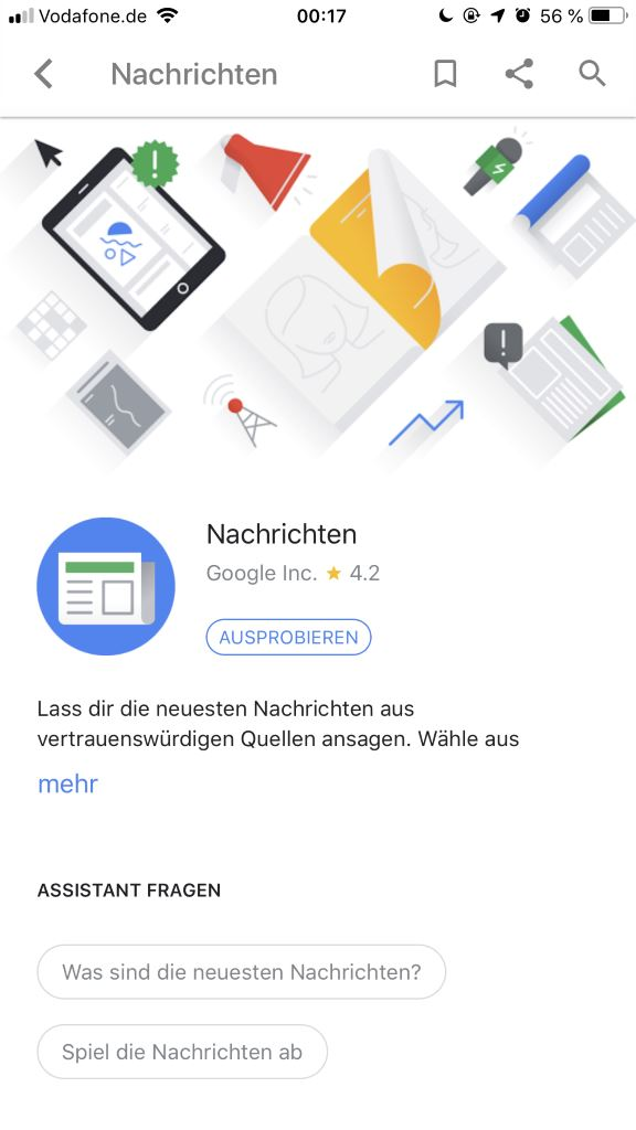 google-assistant-app-nachrichten_01 Vier smarte Lautsprecher mit Google Assistant im Vergleichstest Apple iOS Audio Gadgets Gefeatured Google Google Android Lautsprecher Smart Home Technologie Testberichte