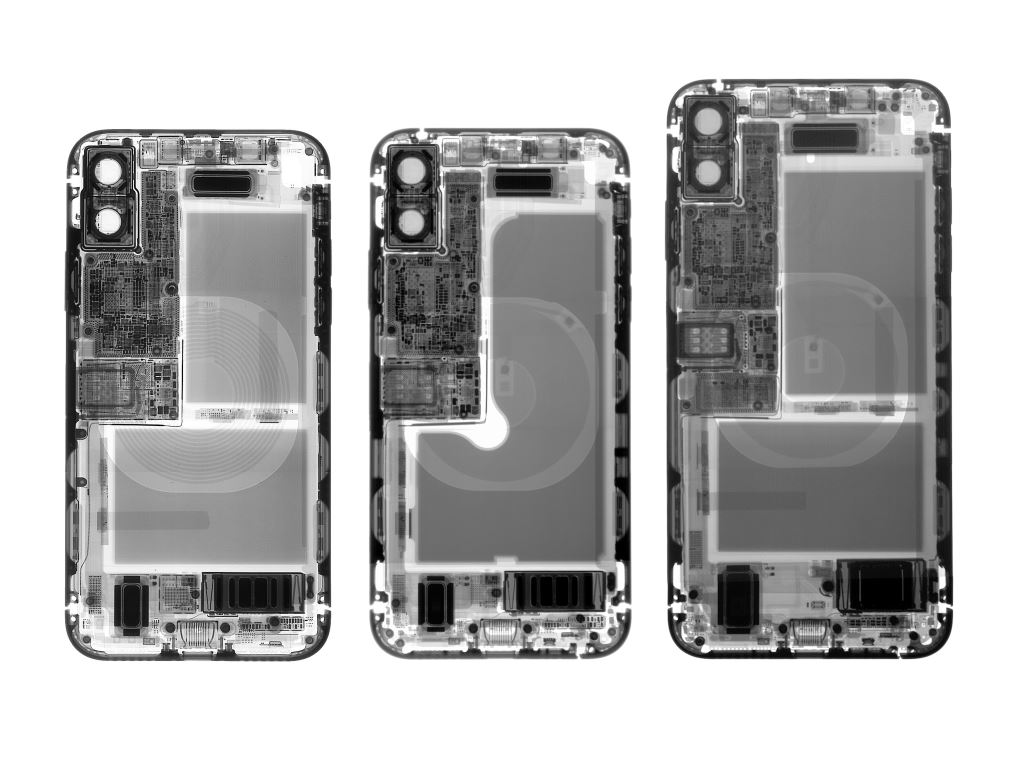 iFixit-Apple iPhone-x-zerlegt-x-ray iFixit zerlegt iPhone XS und iPhone XS Max Apple-Entertainment Gadgets Handys Technologie Web