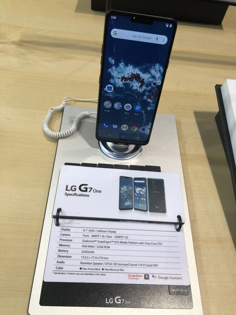 lg-g7-one-on-display [IFA 2018] LG und Motorola zeigen Smartphones mit Android One Google Android Hardware IFA 2018 LG Motorola Smartphones