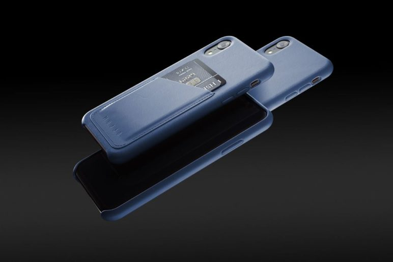 Mujjo Full Leather Wallet Case for iPhones (2018) in Monaco Blue