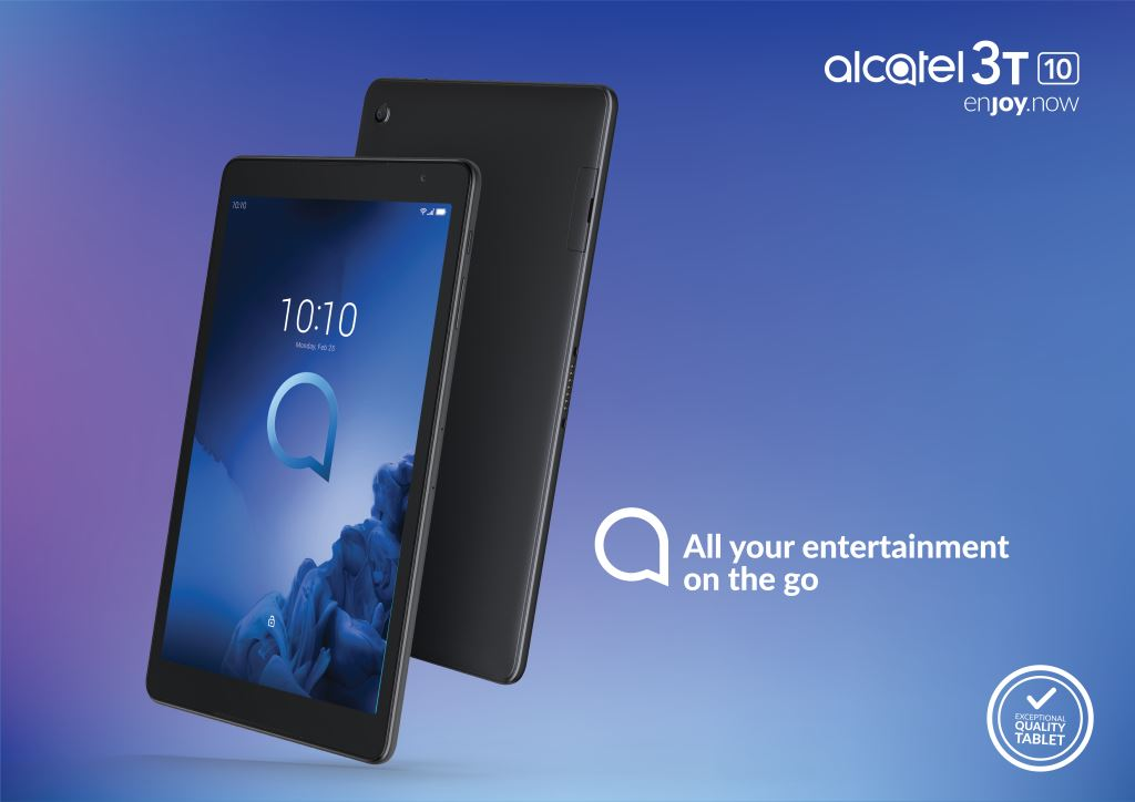 alcatel-3t-10-tablet MWC 2019: Alcatel stellt drei günstige Smartphones und ein Tablet vor Alcatel Events Google Android MWC Smartphones Software Tablets YouTube Videos