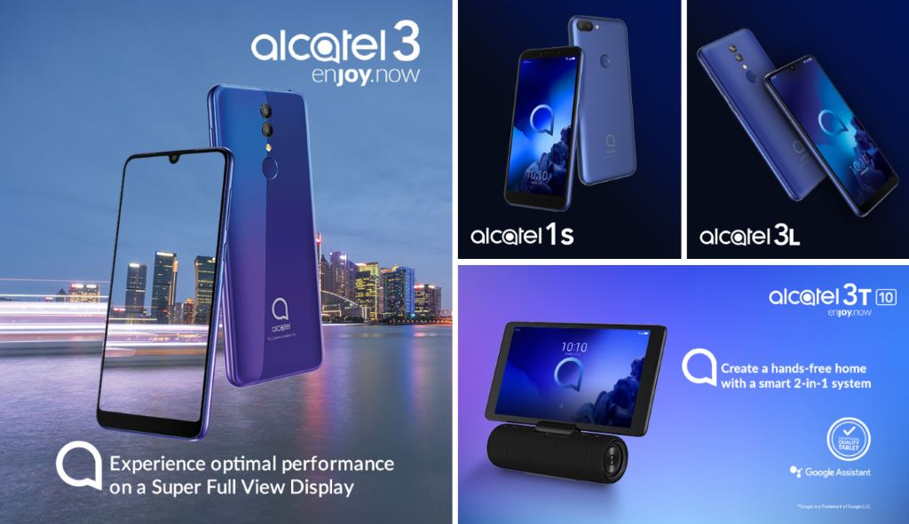 mwc-2019-alcatel-lineup MWC 2019: Alcatel stellt drei günstige Smartphones und ein Tablet vor Alcatel Events Google Android MWC Smartphones Software Tablets YouTube Videos