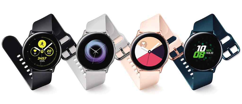 samsung-galaxy-watch-active-variants Unpacked: Neue Wearables Samsung Galaxy Watch Active, Galaxy Fit und Galaxy Buds vorgestellt Audio Events Fitnesstracker Gadgets Kopfhörer Samsung Smartwatches Tizen Wearables YouTube Videos