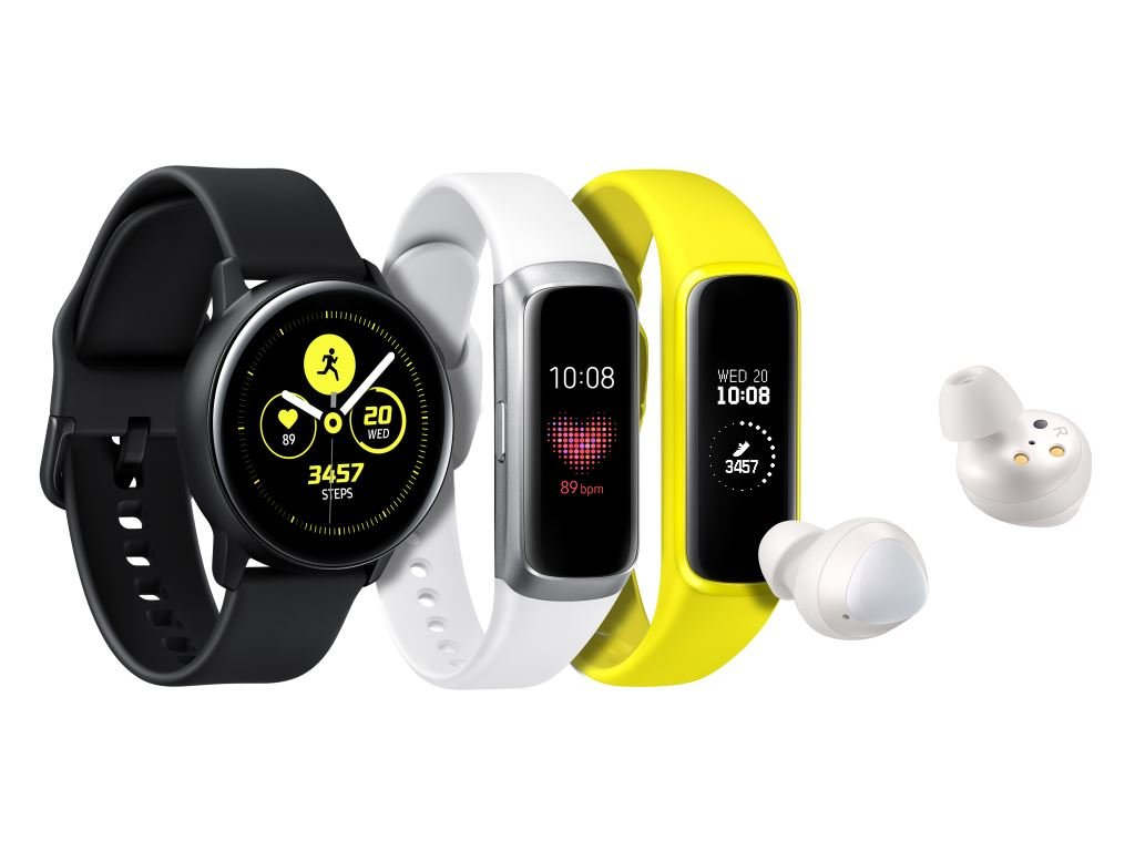 samsung-galaxy-wearables Unpacked: Neue Wearables Samsung Galaxy Watch Active, Galaxy Fit und Galaxy Buds vorgestellt Accessoires Audio Events Gadgets Hardware In-Ear Kopfhörer Samsung Smartwatches Tizen Wearables YouTube Videos