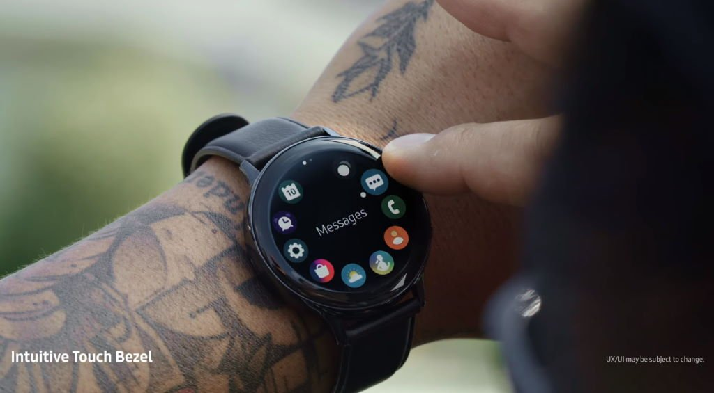 samsung-galaxy-watch-active2-touch-bezel Samsung bringt die Galaxy Watch Active2 ab 299 Euro auf den Markt Gadgets Samsung Smartwatches Software Tizen Wearables YouTube Videos
