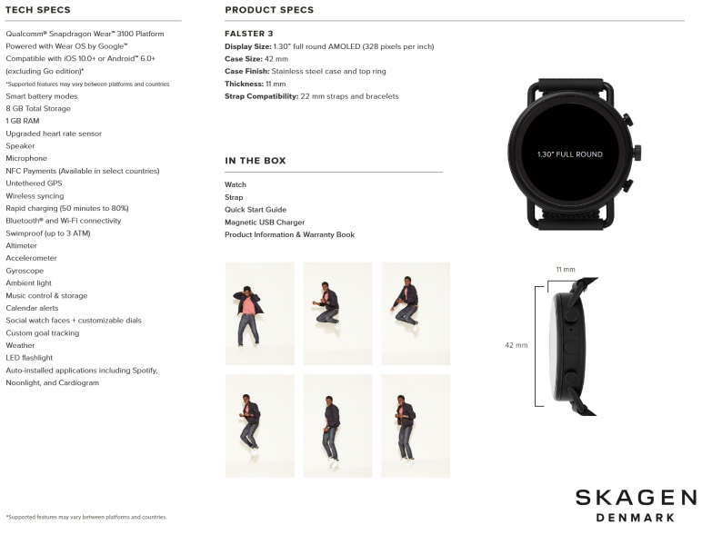 Skagen-Falster3_tech-772x589 SKAGEN stellt neue Smartwatch Falster 3 vor CES Smartwatches Wearables