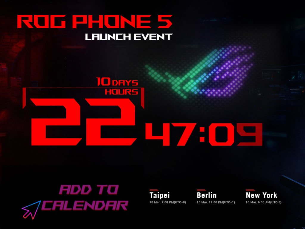 asus-rog-phone-5-launch-event ASUS ROG Phone 5 wird am 10. März vorgestellt Asus Events Google Android News Smartphones YouTube Videos